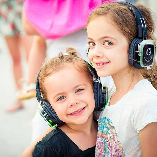 Little smile in kids party with Headphones